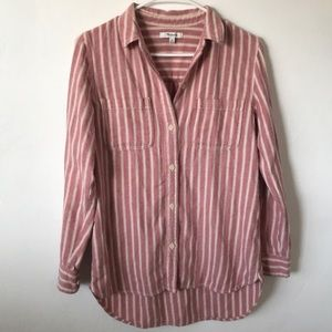 Madewell Striped Cotton Button Down